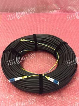 Duplex LSZH 7.0mm 9/125 G652D Single Mode Patch Cable 80meter Black